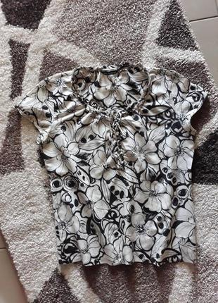 Шелковая блузка 46 р.
