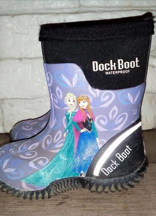 Резиновые термосапоги disney dock boot