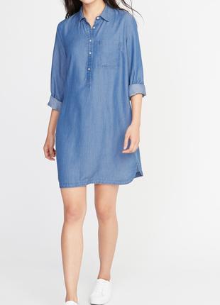 Джинсовое платье-рубашка oldnavy,  (xs-s)