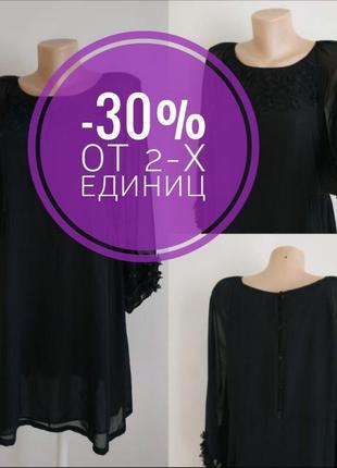 Коктейльное черное платье monsoon с декором
