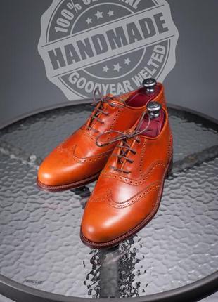Броги ручной работы премиум класса 44р goodyear туфли handmade