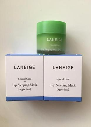 Laneige lip sleeping mask  ночная восстанавливающая маска для губ с яблочными экстрактами