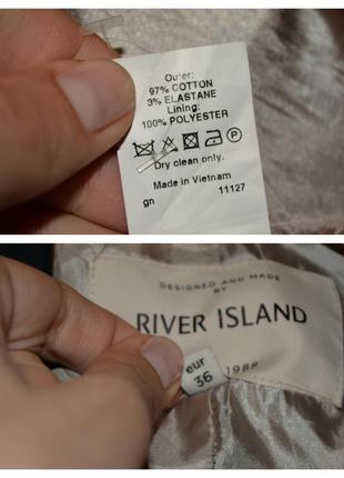 Темно синий тренч плащ river island4 фото