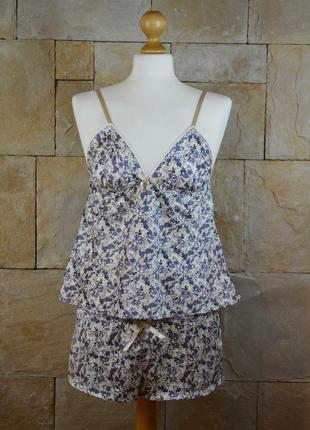 Акция 1+1=3! атласная пижама в цветочный принт new look