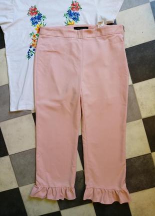 Нежные брюки с оборками от zara