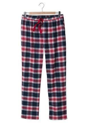 Пижамные штаны клетка фланель р. xs 32 34 esmara германия