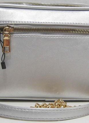 Женский клатч с перфорацией (серебряный) 19-06-0242 фото