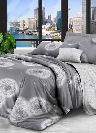 Новый постельный комплект одуванчики, 2-спалка и евро, в наличии