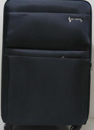 Дорожный тканевый чемодан ( синий большой) 19-06-028