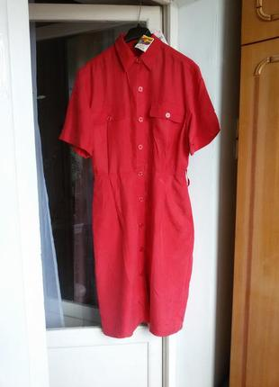 Шелковое платье рубашка с карманами 100% шелк