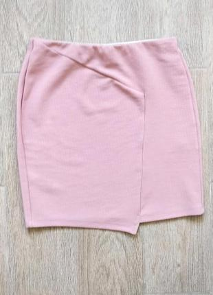 Нежная розовая  мини юбка