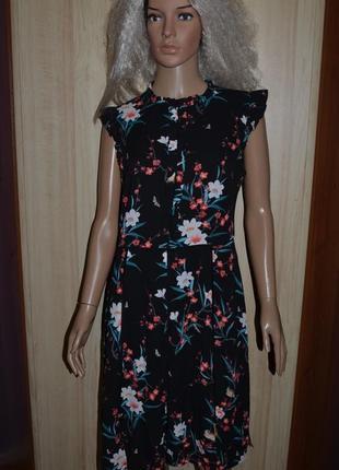 Красивейшее платье с рюшами и разрезами oasis 12 размер