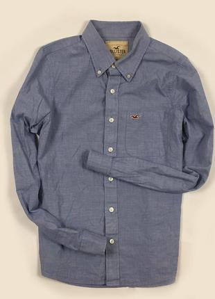 Рубашка hollister мужская синяя холистер размер l