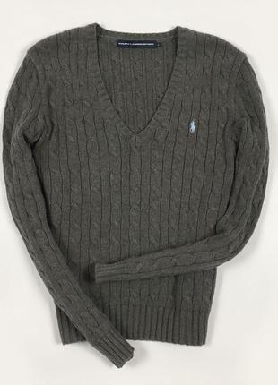 Женский джемпер ralph lauren пуловер вязаный ральф лорен кофта