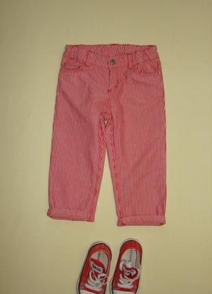 Коттоновые брюки / джинсы в полоску / штаны petit bateau 1-2 года