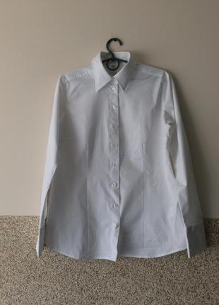 Классическая белая офисная рубашка как новая