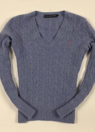 Джемпер женский шерстяной ralph lauren ральф лорен пуловер кофта