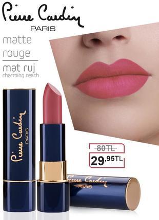 Pierre cardin matte rouge матовая губная помада - очаровательный персик