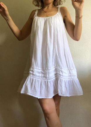 Хлопковое идеальное платье летнее в бохо стиле