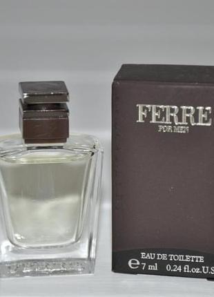 Gianfranco ferre for men туалетная вода (мини) 7ml