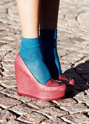 Красивые эффектные кожаные туфли на платформе & other stories