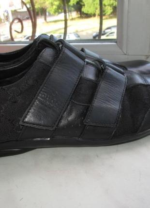Кожаные кроссовки gucci 44 р. италия