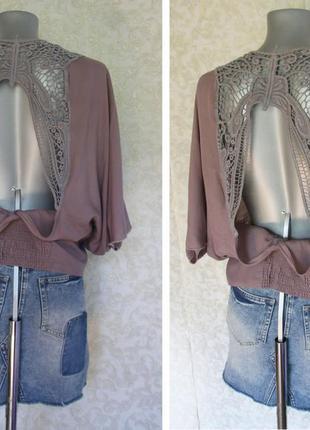 Блуза с ажурной спинкой zara