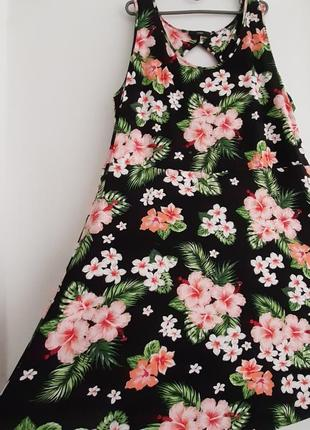 Платье сарафан, цветочный сочный принт ,  размер 50(22), george