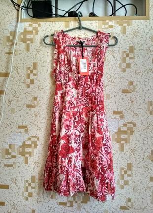 Летнее лёгкое ситцевое натуральное платье