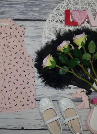 3 - 4 года 104 см h&m фирменная блузка блуза рубашка майка для модниц вишенки пудра