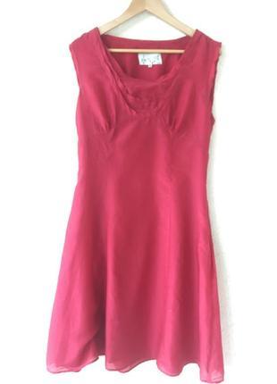 Красивое летнее платье (хлопок и шёлк)