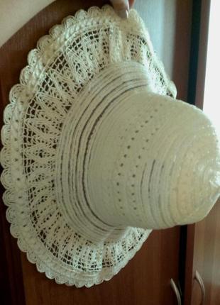 Шляпа пляжная новая соломенная