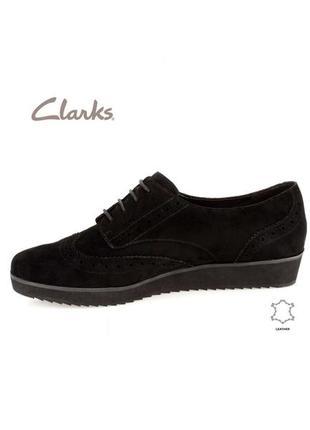 3625 туфлі clarks uk5,5d / eu38 замш сток10 фото