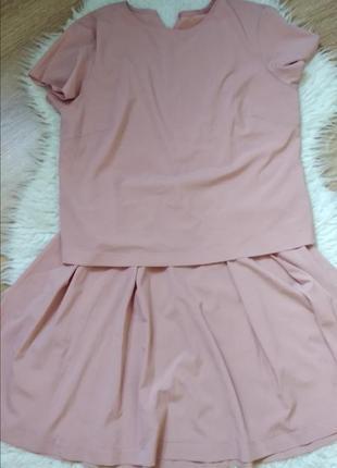 Летний нежный костюм топ+юбка