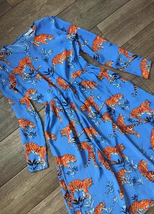Платье в принт , натуральное , трендовое.1 фото