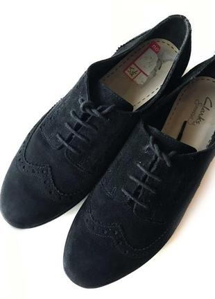 3625 туфлі clarks uk5,5d / eu38 замш сток4 фото