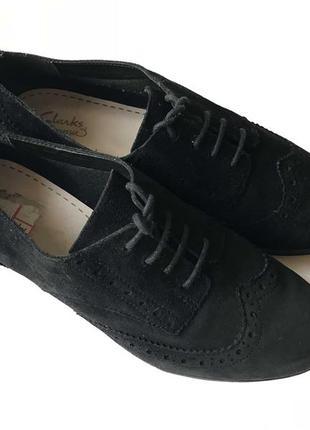 3625 туфлі clarks uk5,5d / eu38 замш сток6 фото