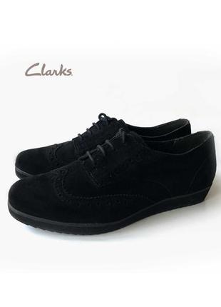 3625 туфлі clarks uk5,5d / eu38 замш сток
