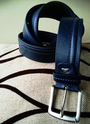 Кожаный мужской ремень tony perotti для джинсов