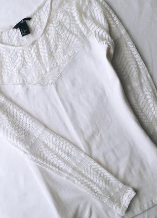 Блузка кофта з мереживом кружевом