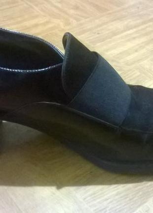 Лоуферы на толстом каблуке, осенние закрытые туфли размер 38 belle donne италия