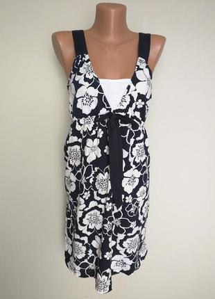 Платье на бретелях, хлопковое  next, размер 12 (40) будет и на м-10