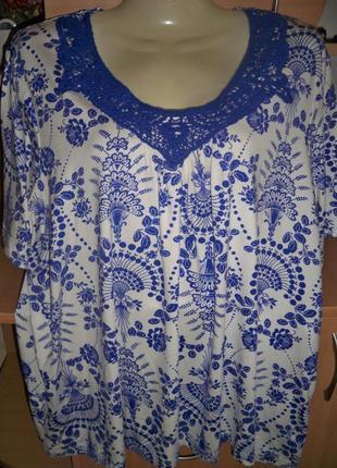 Футболка-блузка с декором