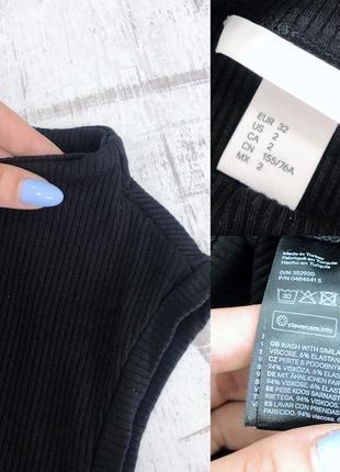 Платье миди в рубчик эффект утяжки h&m5 фото