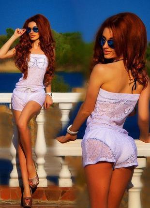 Будьте на пляже самой красивой!!! ромплер комбинезон гипюр