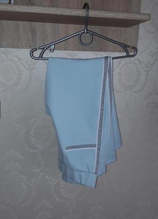 Голубые штаны  🌌 серебристыми лампасами