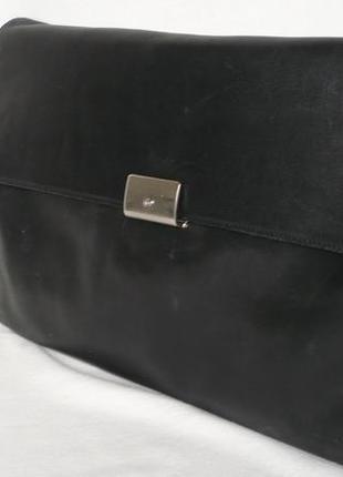 Traveller вместительная деловая кожаная папка сумка портфель формат а4 для документов