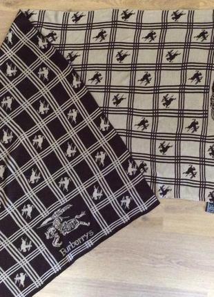 Шарф палантин двухсторонка burberry s оригинал винтаж 1980 70% кашемир 30% шерсть