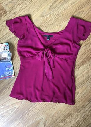 Супер блуза шифон малинового кольору