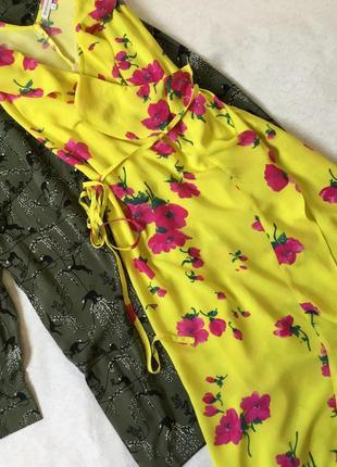 Платье на запах миди с воланами warehouse размер 12